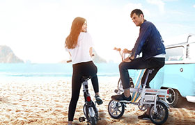 Airwheel爱尔威R6自动折叠电助力自行车